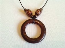Wooden hoop necklace